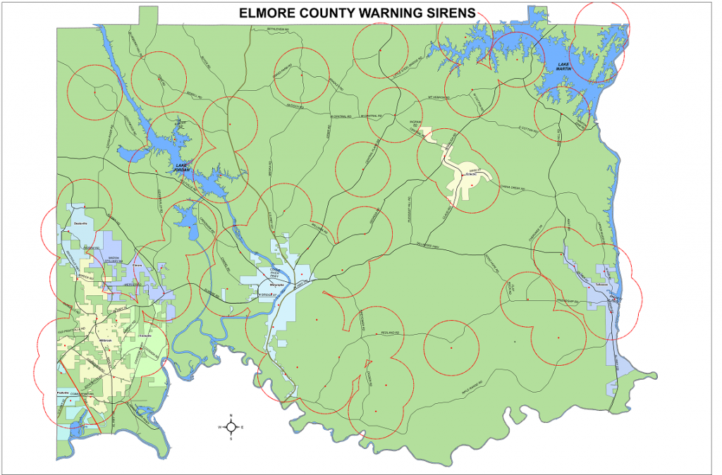 Warning Sirens Map PNG